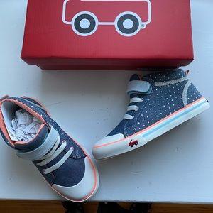 See Kai Run Girls Peyton blue high top sneakers 1Y